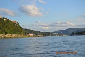 Rhein Annäherung Koblenz