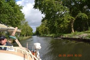 Canal de l'Est Fahrt