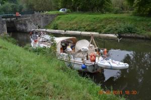 Canal de l'Est Vor Schleuse