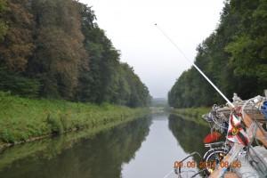 Petite-Saone Kanal-Abschnitt