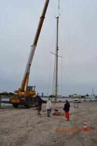 Port-Saint-Louis Mast schwebt