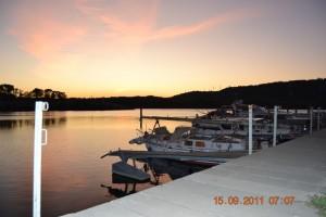 Rhone Viviers Sonnenaufgang
