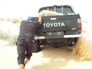 Toyota in der Wüste